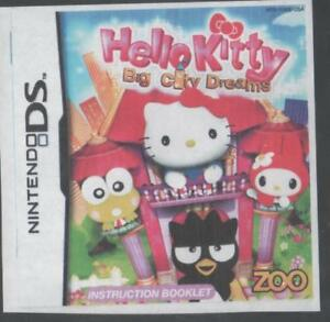 Hello Kitty Nintendo ds Big City Dreams case, chip, manual all f