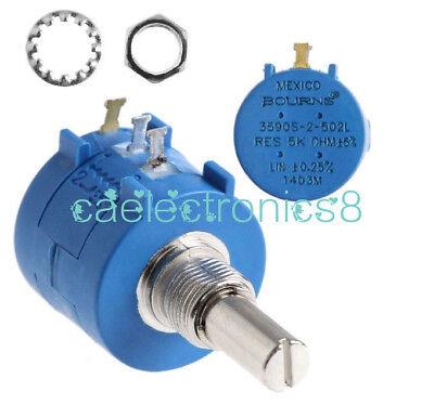 3590s-2-502l 5k 5000 Ohm Precision Rotary Wirewound Potentiometer Pot 10 Turn