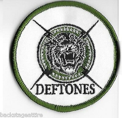 Deftones 3 inch Green Tiger Logo Chi Cheng Sew/Iron-On Patch Badge Applique-New!