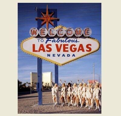 Welcome to Fabulous Las Vegas Sign PHOTO Hot Showgirls Sexy Girls