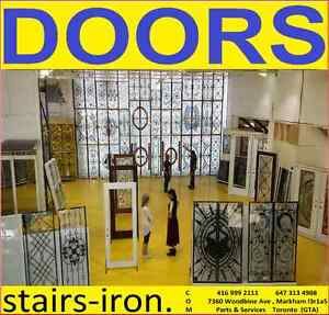 Wrought Iron Doors+Decorative Glass insert+Stairs parts+services