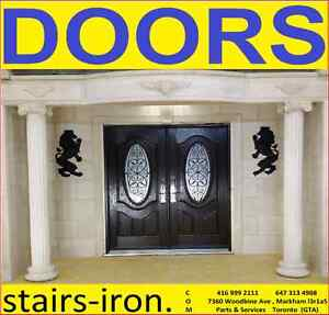 Front Entryway Doors & Cast Stone.Design & Manufacture