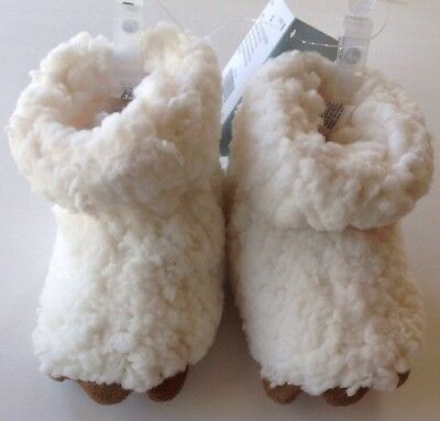 Gymboree Baby Boys Girls Winter White Bear Paws Crib Booties Shoes Size 2 (Baby White Bear)