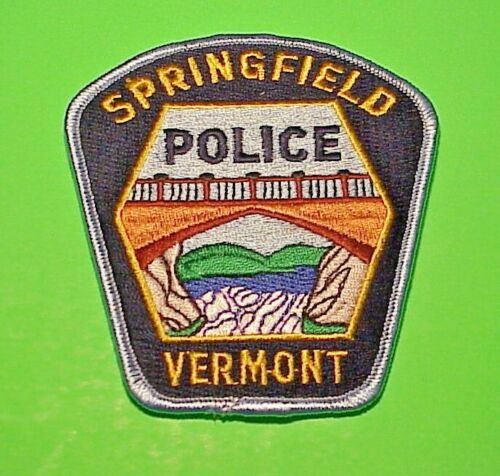 """SPRINGFIELD  VERMONT  VT  4 1/4""""  POLICE PATCH  FREE SHIPPING!!!"""