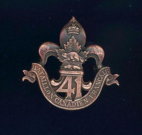 41st (Canadiens Francais) Bn, CEF. Superior strike and finish. INGLIS LIMITED
