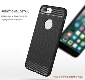 iPhone 7 Slim Hair Line Design Black TPU Case - Free Shipping Canada