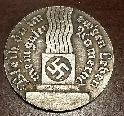 Adolf Hitler silver clad Third Reich Nazi coin  WW2 WWII German Germany