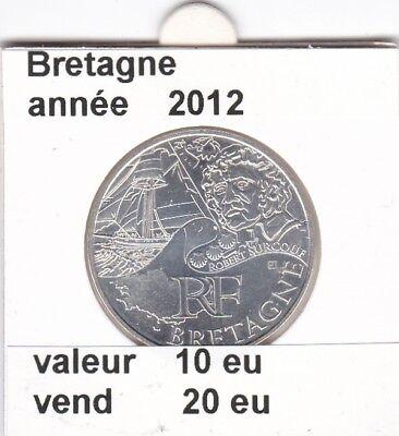 va )pieces de 10 eu bretagne  2012  33%  argent