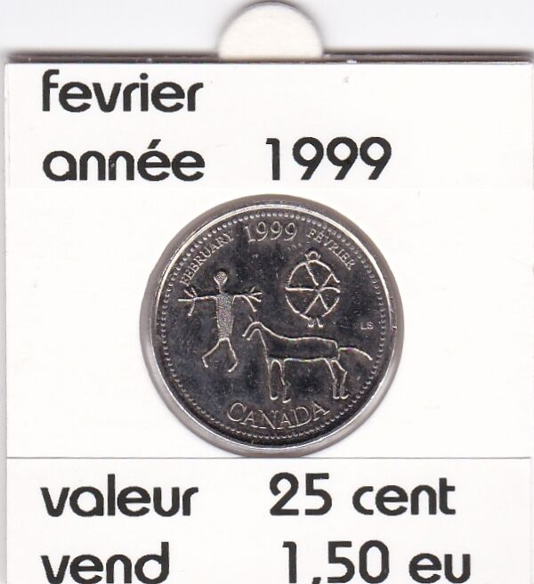 C1 )pieces de 25 cent  fevrier (1999 )