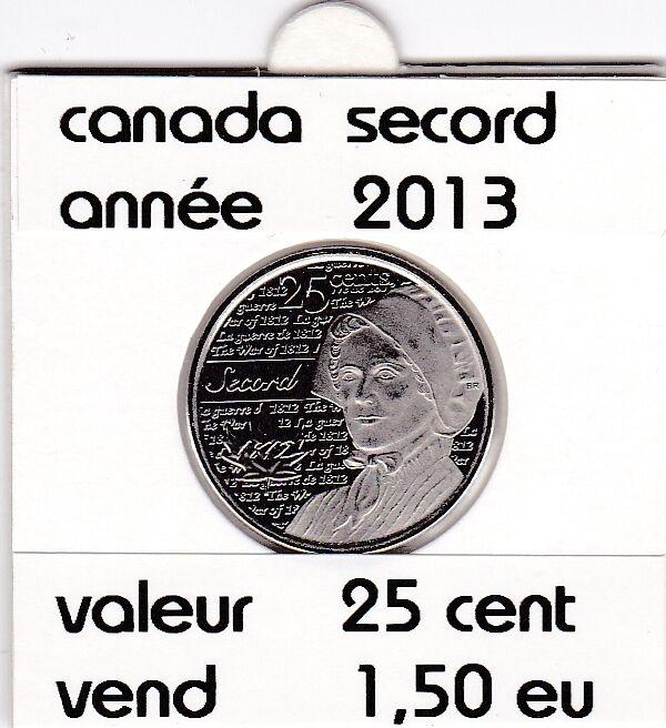 C1 )pieces de 25 cent secord  2013