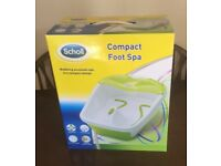 Scholl Compact Foot Spa, Boxed and Brand NEW!