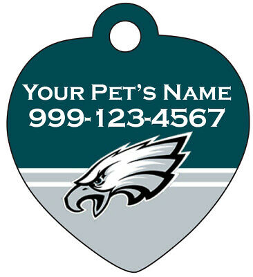 Philadelphia Eagles Pet Id Tag for Dogs & Cats Personalized