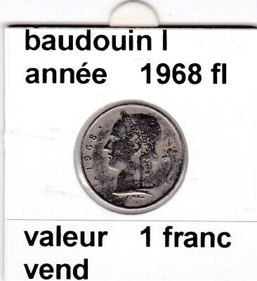 BF 3 )pieces de 1 francs  baudoui 1   1968  belgie  voir descrition