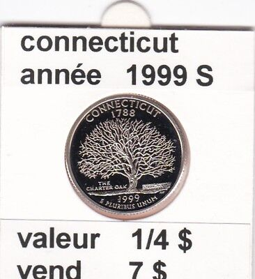e 3)pieces de 25 cent  connecticut  1999  S