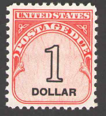 US. J100. $1, Postage  Due Stamp. Shiny Gum. MNH. 1959  for sale  Shipping to Canada