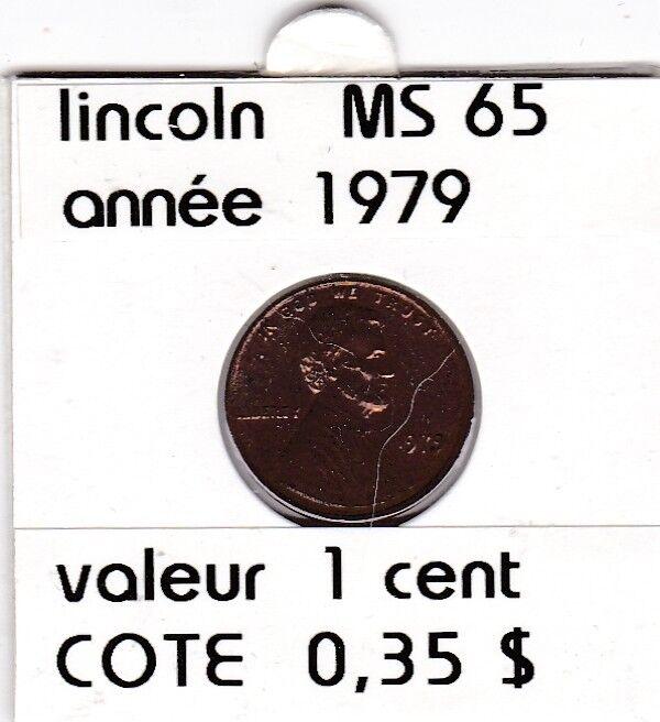 e2 )pieces de 1 cent  1979       lincoln