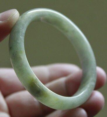 Genuine 100% Natural (Type A) Beautiful Jadeite JADE BANGLE (Oval Shape) 54&49mm
