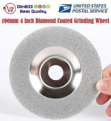 100mm 4 Diamond Coated Grinding Wheel Disc Carbide Grinder Rotary Tool Usa