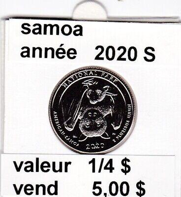 e 4 )pieces de 1/4 dollar  samoa   2020 S