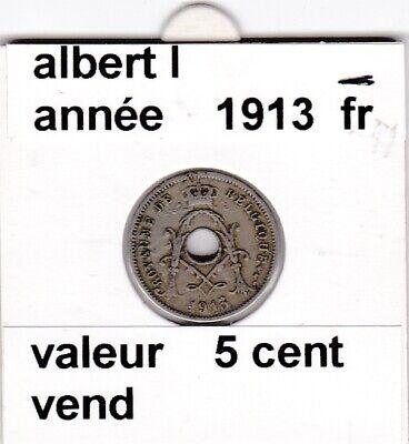 FB 2 )pieces d'albert I  5 cent 1913  belgique