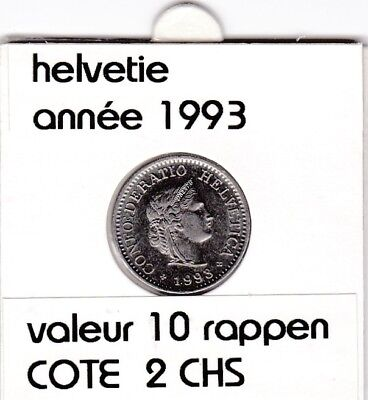 S 1) pieces suisse de 10  rappen de 1993  voir description