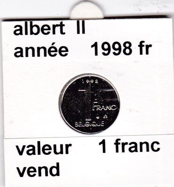 FB 2 )pieces de albert II  1 francs 1998  belgique