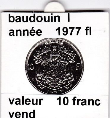 FB 2 )pieces de baudouin  10 francs 1977  belgie