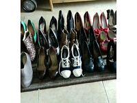 Range of heels wedges platforms