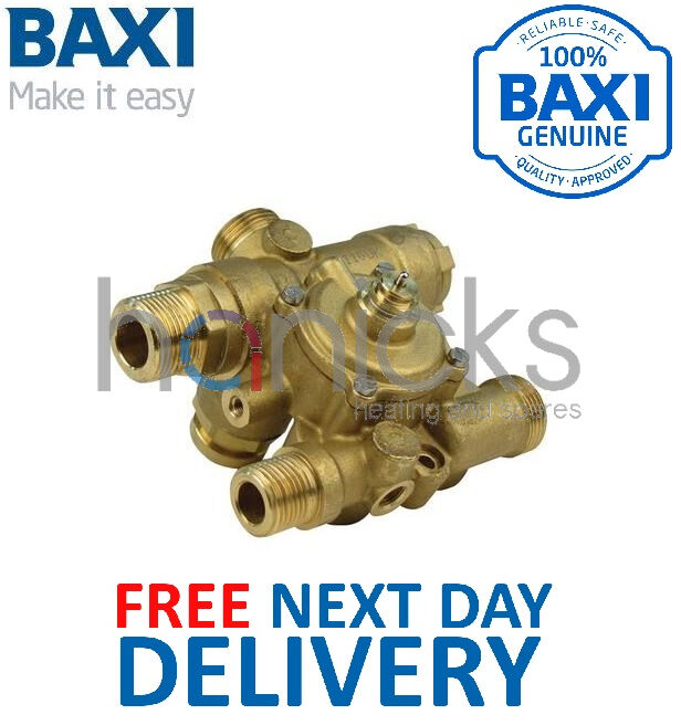 Baxi Combi Instant 80 100 E, HE Diverter Valve 248727 Genuine Part NEW