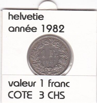 S 2 ) pieces suisse de 1 franc de 1982  voir description &