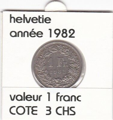 S 2 ) pieces suisse de 1 franc de 1982  voir description