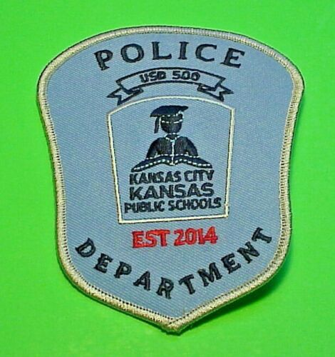 "KANSAS CITY KANSAS  PUBLIC SCHOOLS  4 3/4""  POLICE PATCH  FREE SHIPPING!!"