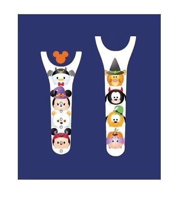 For Disney Magic Band 2 Decal Stickers Character Friends Halloween (2 Characters For Halloween)