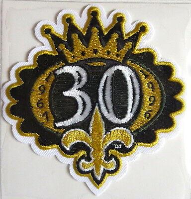 NEW ORLEANS SAINTS ~ 30th ANNIVERSARY NFL TEAM PATCH Willabee & Ward PATCH (30th Anniversary Patch)