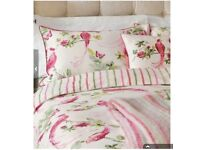 LAURA ASHLEY BNWT RRP£80 Single SET Harewood Pink Grapefruit Duvet & Pillowcase