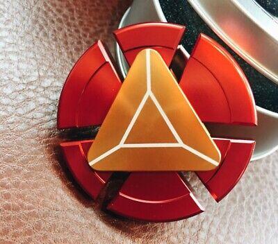 Iron Man Metal Fidget Hand Spinner EDC ADHD Autism Tri Focus Christmas Toy