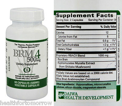 Daiwa Health Development BRM4 500 mg 60 vcaps - Exp Date: 06/2018