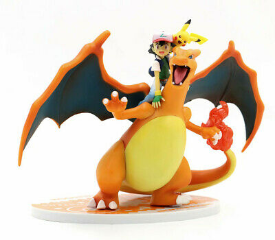Anime Pokemon Ash Ketchum & Pikachu & Charizard Figure 16CM Toy New in Box