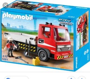 Playmobil 5283 Action City Flatbed Construction Truck