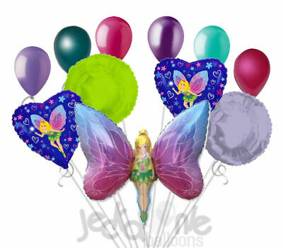 11 pc Fancy Fairy Balloon Bouquet Party Decoration Birthday Tinkerbell Inspired](Fancy Balloons)