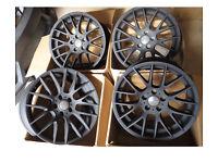 4 x 19 inch Matt Black Alloy Wheels 19x9.5j / 5x120 / 72.6 fits BMW X5, X3, VOLKSWAGEN VW T5