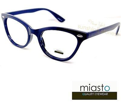 NWT$39.99 MIASTO CAT EYE READER READING GLASSES+2.50~NAVY BLUE~Skeeter,The Help