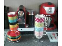 Coffee cup sets set with saucers7.00 poka dot set 4.00