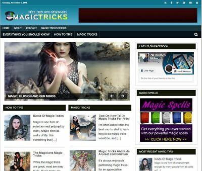 Magic Tricks Wp Blog - Established Profitable Turnkey Wordpress Website For Sale