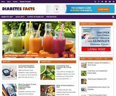 Diabetes Facts Wp Blog - New Established Profitable Turnkey Website For Sale