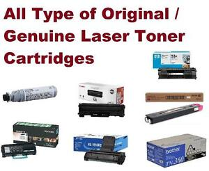 All Type of Original/ Genuine Laser Toner Cartridges