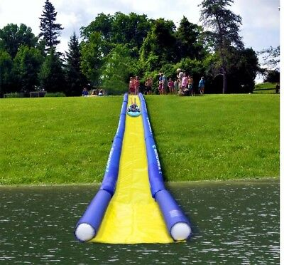 NEW Rave Sports 02472 Inflatable Turbo Chute Commercial Water Slide Lake Package