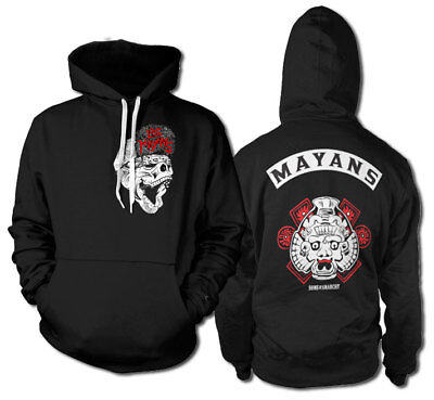 Los Mayans MC Sons Of Anarchy Front Back Patch Männer Men Sweatshirt Hoodie (Sons Of Anarchy Hoodies)
