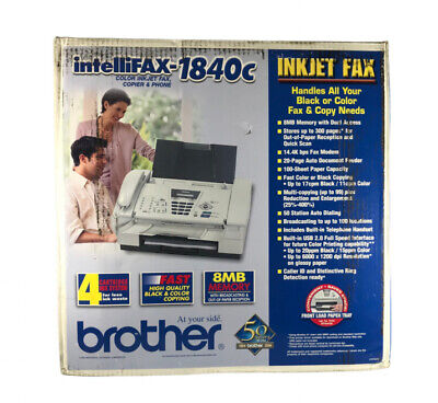 Brother Intellifax 1840c Color Inkjet Fax Copier And Phone