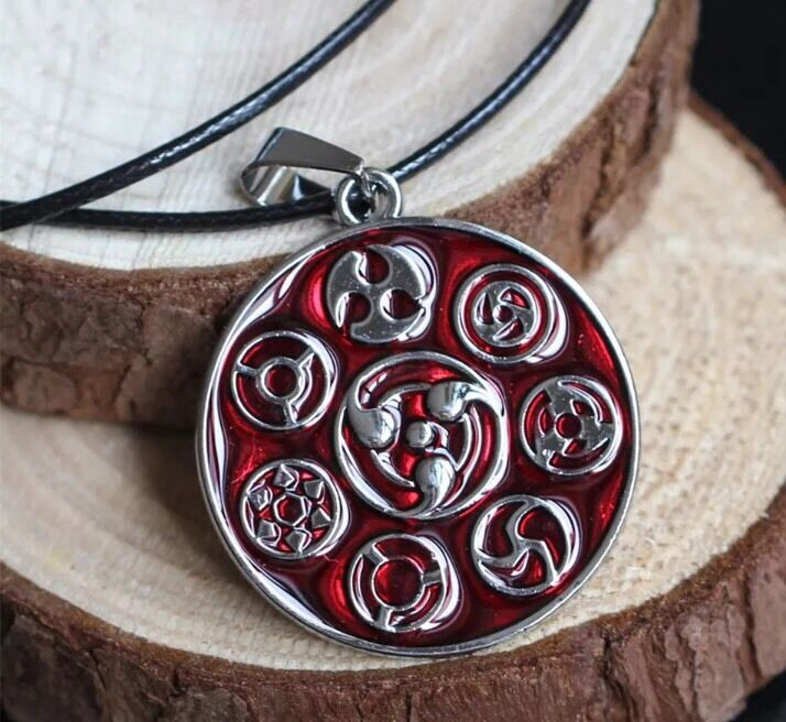 "Naruto Sharingan Kakashi Sasuke Itachi Uchiha Necklace Anime 1.5"" US Seller"